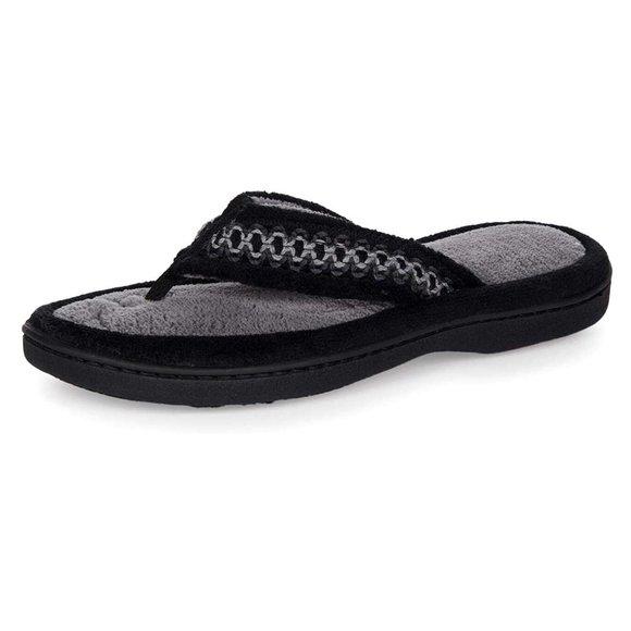 NWT isotoner Women's Paulette Thong Slippers